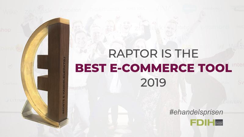 raptor best ecommerce tool 2019 e-handelsprisen bedste e-handelsværktøj