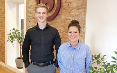 Welcome to our new colleagues Kate and Oliver
