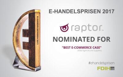 Raptor is Nominated for Best E-Commerce Case
